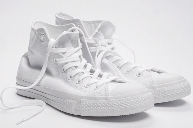 all white canvas converse