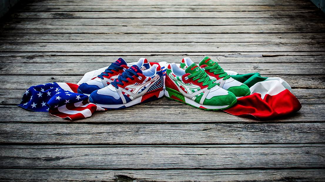 pack limitado de zapatillas diadora flag pack
