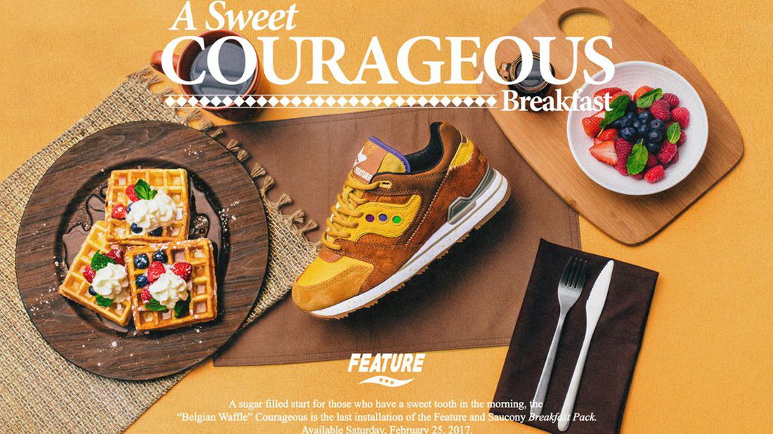 Saucony x Feature Men Courageous Belgian Waffle (Brown
