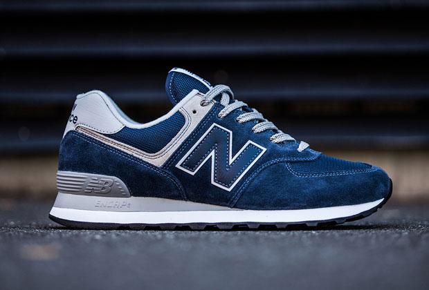 new balance 574 uomo azzurre