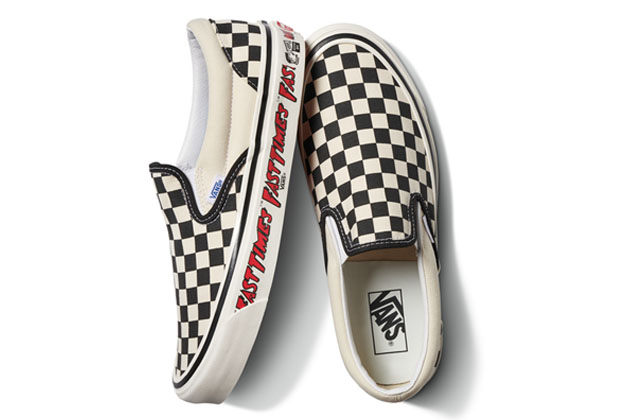 Vans rilancia le Fast Times Checkerboard Slip On Sneakers